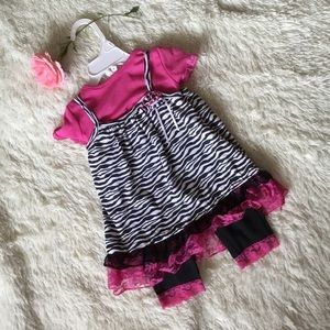 NWOT Little Lass 3 pc set, size 18 mos
